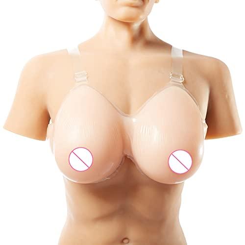 YQJY Falsos Senos Artificiales Uno Formas De Mama De Silicona for Par Forma Travesti Mastectomía Prótesis Los Cojines del Sujetador Inserciones Gotas De Agua Falso Boob,14XL