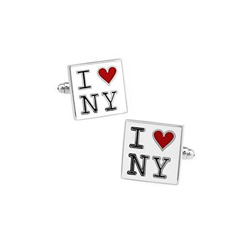 Bouton manchette I love New-York
