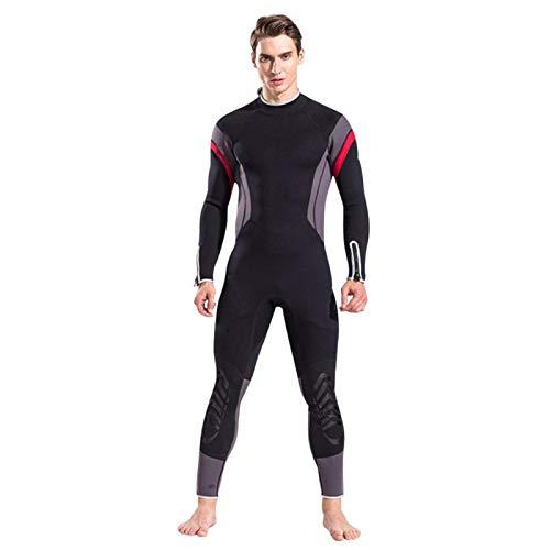 BOLORAMO Traje de baño de una Pieza para Buceo, 2.5 mm, para Hombres, protección UV al Aire Libre, Traje de Buceo térmico, Traje de Surf, Traje de baño elástico de una Pieza(L)