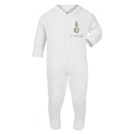 Boys-Personalised-Peter-The-Rabbit-Baby-GrowSleepsuit-Now-Available-in-Five-Sizes