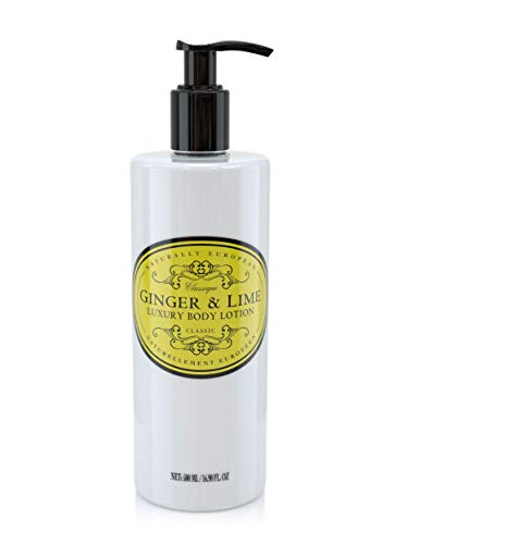 Naturally European Ginger & Lime Oil Rich & Nourishing Organic Full Body Lotion 500ml | Paraben Free Cleansing and Moisturising Natural Full Luxury Body Lotion