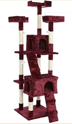 FENIXSHOP24 TIRAGRAFFI Katze Höhe 1,70 cm Spielzeug für Katzen Robusta Struktur aus Silikon und Plüsch