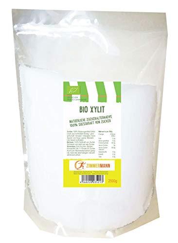 Bio Xylit - Bio Xylitol- natürliche Zuckeralternative 2500g - von Zimmermann Sportnahrung