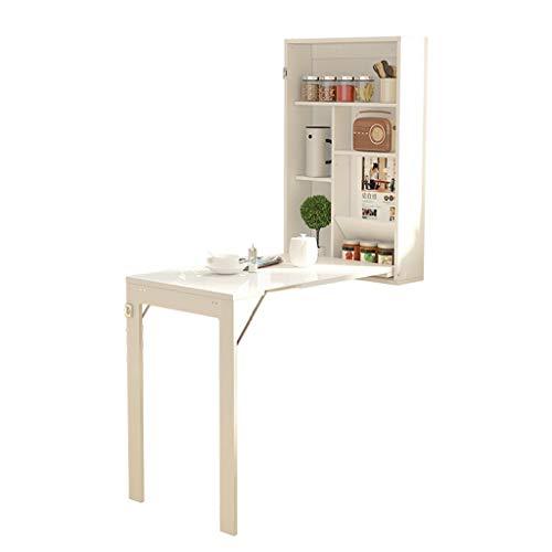 Wandmontierter Tisch, ausklappbarer wandelbarer Wandschreibtisch Kleine Räume Weißer Multifunktionscomputertisch, Schreibtisch Home Office Floating Desk