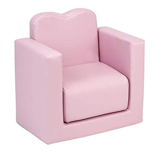 HQSB Juego de sillones 2 en 1 para niños y niñas, color rosa