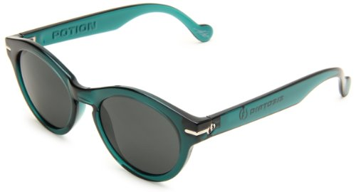 Electric Potion Womens Sunglasses One Size Midnight Green ~ Grey