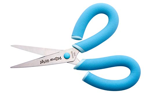 Its Academic Pillow Grips 8' Scissors with Comfort Handles, Plain Blade