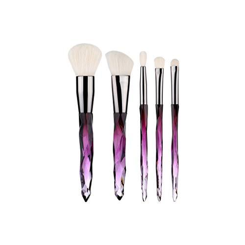 Pinceau ovale Marque Efforty pinceau de maquillage Set Favorable doux naturels brosse à cheveux pour les femmes 5Pcs cosmétiques quotidienne poignée outil,M