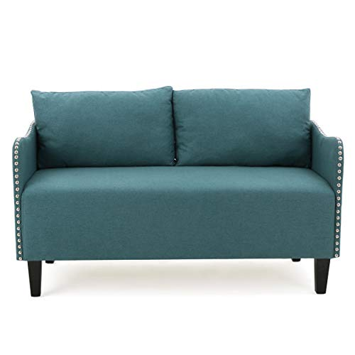 Christopher Knight Home Palmer Dark Teal Fabric Love Seat
