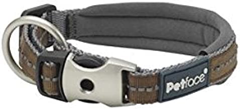 Petface Signature Padded Dog Collar, Brown,Large
