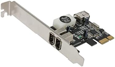 1394 Firewire Card, 1394A to PCIE (PCI Express) Expansion Card, 3 Ports 1394A Card (2 External + 1 Internal), Rosewill RC-504 IEEE 1394 Firewire Adapter Controller with Low Profile Bracket