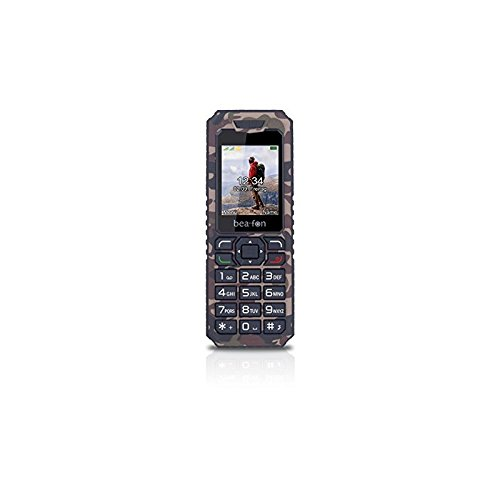 Beafon AL250_EU001M Mobiltelefon (Dual SIM, TFT Farbdisplay, QVGA Kamera, Bluetooth, 4,5 cm (1,77 Zoll Military