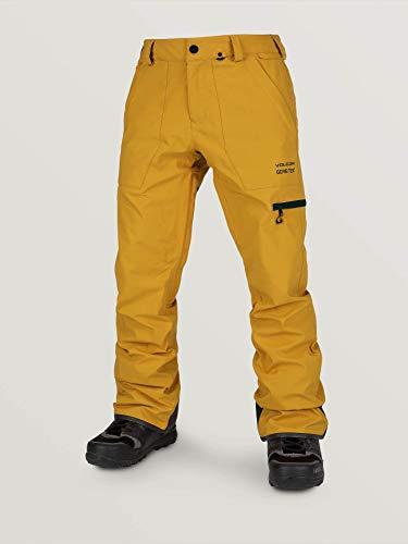 Volcom Stretch Gore-Tex Pnt – Pantaloni da Uomo, Uomo, Pantaloni, G1352003, Oro (Resin Gold), L