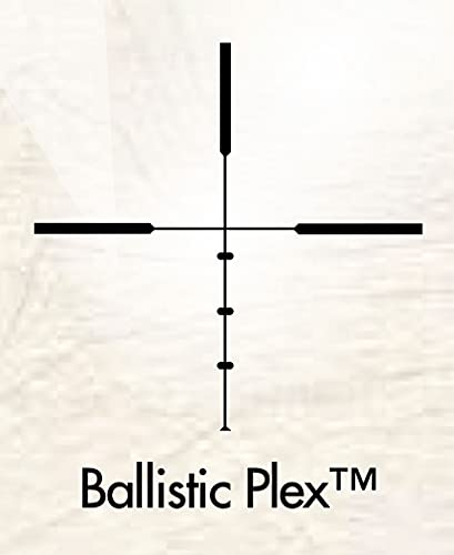 Burris Ballistic Plex Hunting Riflescope, 2.75X-20mm, Black
