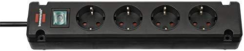 Oferta de Brennenstuhl regleta de enchufes Bremounta con 6 tomas corriente - para instalación y fijación (montable, cable de 3m, con interruptor) color negro