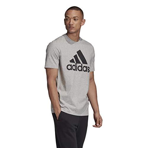 adidas Badge of Sport Camiseta, Gris, Small para Hombre