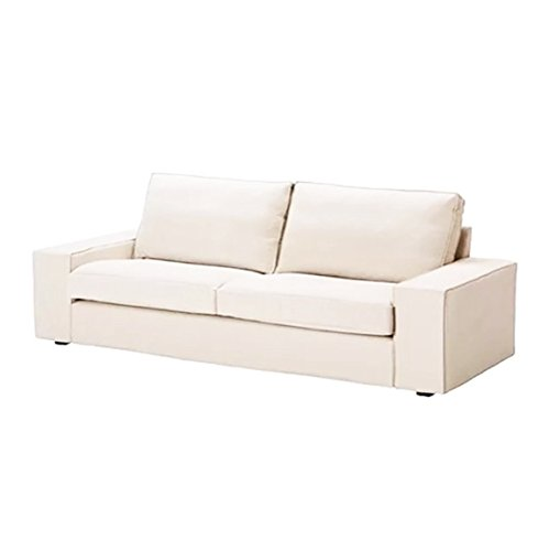 交換用カバーIKEA Kivik 3人掛けソファベッド、綿100%ソファーカバーのIKEA Kivikスリー ホワイト