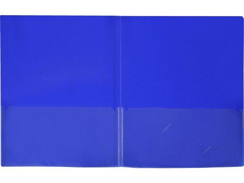 Lion Insta-Cover 2-Pocket Presentation Folder, Dark Blue, Pack of 4 (91650-BL-4P)