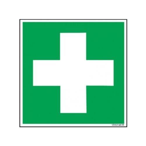 Rettungszeichen KNS Erste Hilfe selbstklebend/nachleuchtend 148 x 148 mm, Norm BGV A8