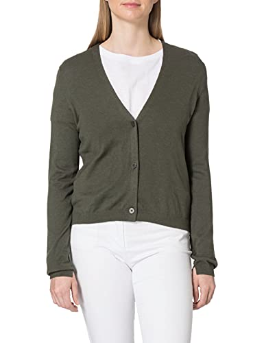 TOM TAILOR mine to five 1024667 Basic Chaqueta Punto, 26543-Deep Leaf Green, L para Mujer