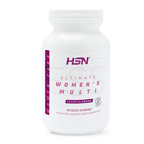 Multivitamínico para Mujeres de HSN Ultimate Women's Multi | Complejo de Vitaminas y Minerales, Extractos Herbales | Vegetariano, Sin Gluten, Sin Lactosa, 120 Tabletas