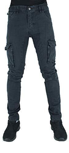 Big Dawg Special Oomo Cotone Verde Militare Stile Militare Slim Militare Pantaloni - Nero Carbone, 38W / 33L - Euro 50