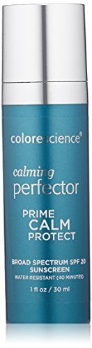 Colorescience Calming Perfector Face Primer, Water Resistant Mineral Sunscreen, Broad Spectrum 20 SPF UV Skin Protection, 1 Fl oz