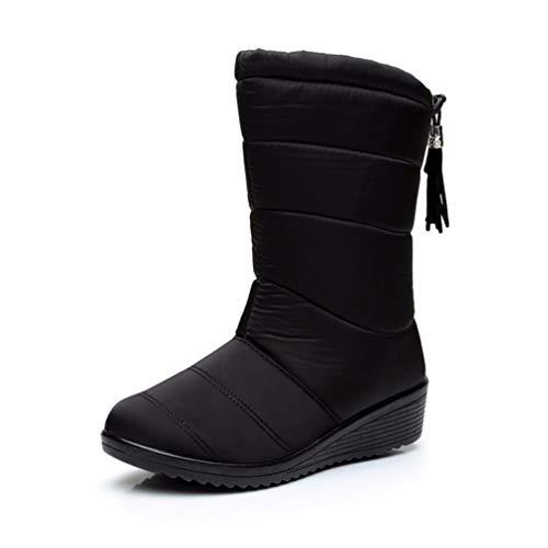 Winterstiefel Frauen wasserdichte Knöchel Schnee Warme Pelz Schuhe Mädchen Stiefel für Outdoor-Sportarten