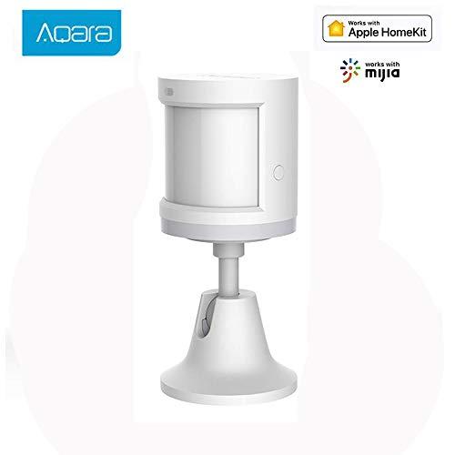 Aqara Human Motion Sensor,Intelligente ZigBee-Funkverbindung für den menschlichen Körper Integrierte Lichtintensitätssensoren Bewegungsmelder für Smart Home-Körper Arbeiten mit Mi Home APP