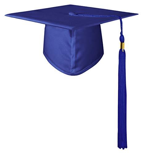 GraduatePro Preescolar Birrete Graduacion Infantil Gorro Niño Niña Disfraz Azul Real