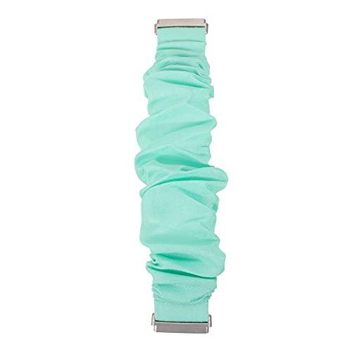 Hemobllo Scrunchie Uhr Band Scrunchy Elastische Smartwatch Band Stoff Tuch Armbanduhr Strap Armband Ersatz Kompatibel für Fitbit Versa 3