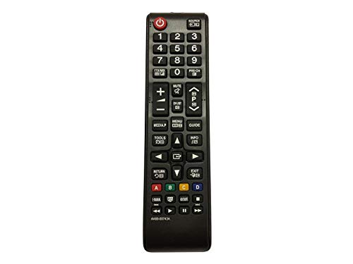 azurano Universal Ersatz-Fernbedienung | Kompatibel mit SAMSUNG AA59-00743A, AA5900743A | TV Projektor HiFi Fernbedienung | UE40F6100, UE40F6100AK, UE40F6100AW, 2RD5141, 2RD5147, 2RD5156, AH01, DE40C,
