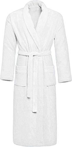 normani Unisex Luxus Wellness Bademantel für Damen & Herren aus 100% weicher Baumwolle, Oeko-Tex® 100, halblang Farbe Weiß Größe 4XL
