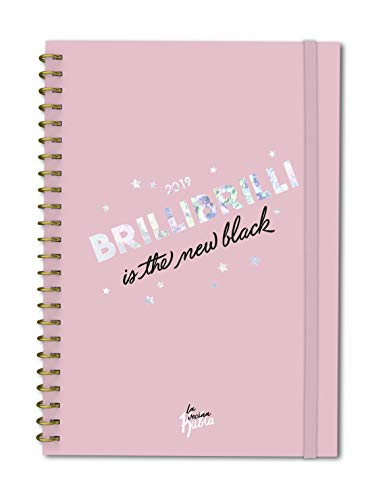 Agenda anual semana/vista Vecina Rubia 2019: Brilli brilli is the new black (TANTANFAN) - 155 x 220 mm