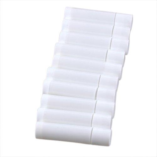 TOOGOO 100 Blanc Vide Baume a levres Tubes Conteneurs
