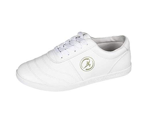 Unisex 1 Par Zueco De Trabajo Confort Transpirable Zapatos De Lona Planos Antidelizante Transpirable Blanco 1 40
