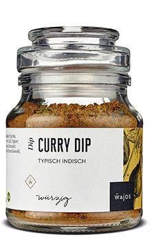 Curry Dip typisch indische Gewürzmischung 100g I Wajos Gourmet