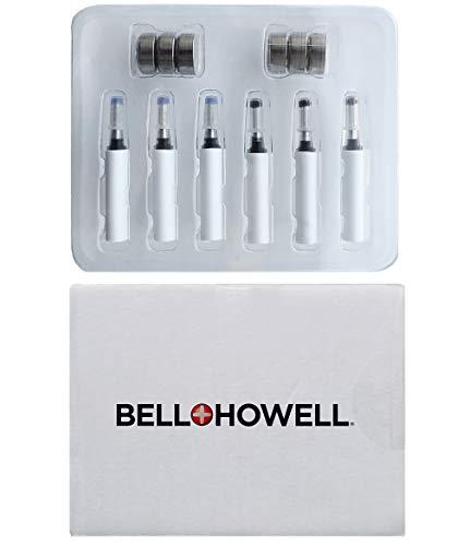 Bell+Howell Refills Replacement Kit For Tac Pen Original– Includes 6 Pcs LR44 Batteries, 3 Black Ink Cartridges, 3 Blue Ink Cartridges, Military Tactical Pen