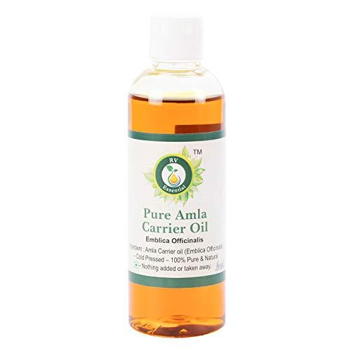 R V Essential Reines Amla Öl 100ml (3.38 Unzen) - Emblica Officinalis (100% reine und natürliche seltene Herb Series) Pure Amla Oil