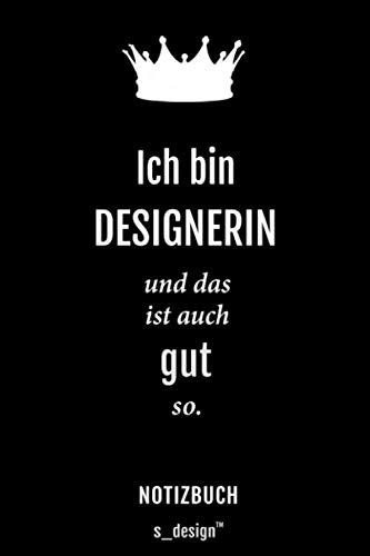 Notizbuch für Designer / Designerin: Originelle Geschenk-Idee [120 Seiten gepunktet Punkte-Raster blanko Papier]