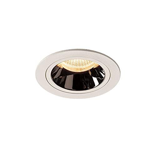 SLV Numinos DL M/LED, Foco de Techo, lámpara empotrable, iluminación Interior, IP20/IP44, 2700 K, 17,55 W, 1550 LM, Color Blanco 20 Grados