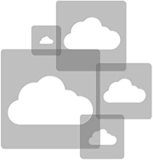 5 pcs Reusable Plastic Stencils // Cloud // 13.4