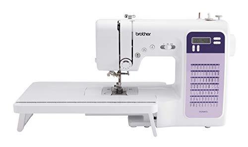 Brother FS70WTx Patchwork-Nähmaschine mit Máquina de coser, Metal, blanco, morado, Full-size sewing machine + Anschiebetisch