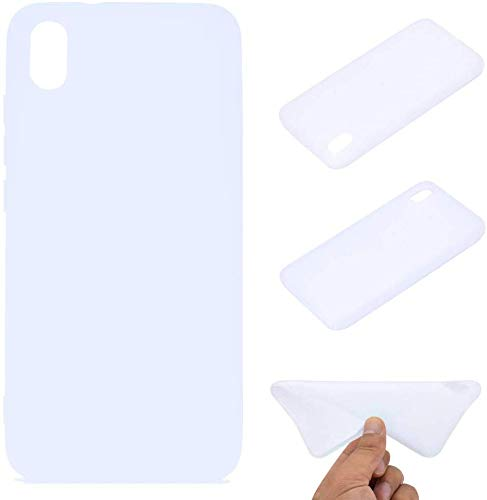 CoverKingz Handyhülle für Xiaomi Redmi 7A - Silikon Handy Hülle Redmi 7A - Soft Hülle in matt weiß
