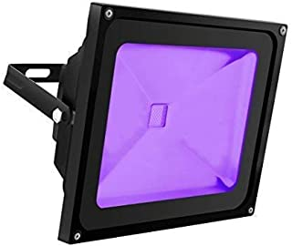 UV Light Black Light, HouLight High Power 50W Ultra Violet UV LED Flood Light IP65-Waterproof (85V-265V AC) for Halloween, Blacklight Party, Neon Glow, Glow in the Dark, Birthdays, Blacklights, Curing