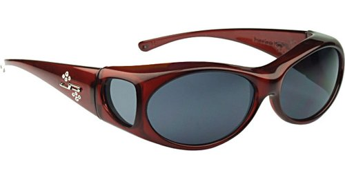 Jonathan Paul Fitover Sunglasses Aurora AR003S Claret Wine Frame Gray Polarized