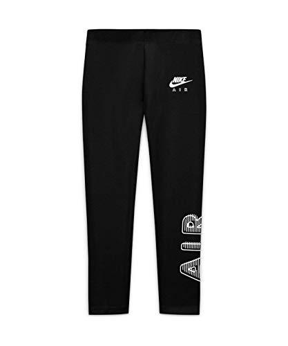 Nike Mädchen Air Favorites Strumpfhose, Black/White, S