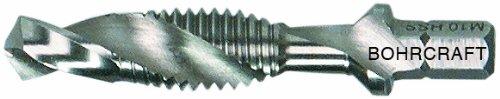 Bohrcraft combi-schroefdraadboor bit 1/4 inch schacht HSS-G, M 10 x 1,50 in splitverpakking, 1 stuk, 41710301000