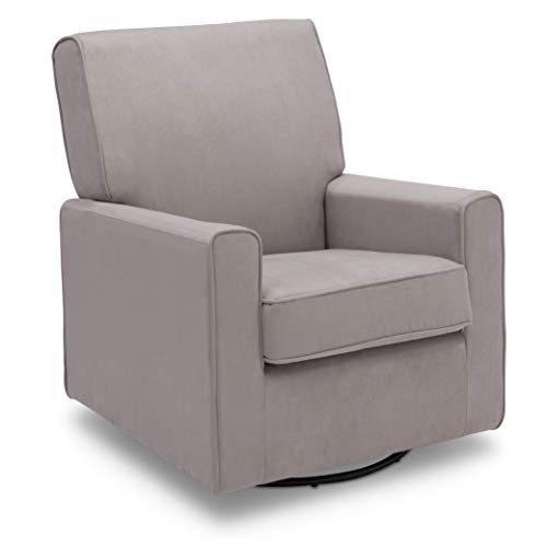 Delta Children Ava Nursery Glider Swivel Rocker Chair, Dove Grey