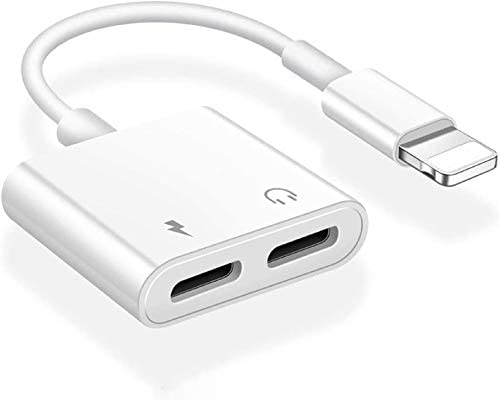 Apple MFi Certified iPhone Headphones Adapter Splitter 2 in 1 Dual Lightning Charger Cable Aux product image